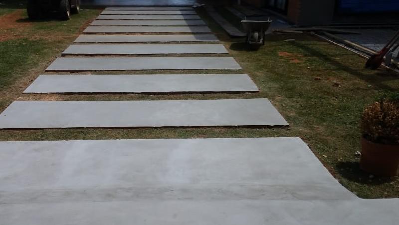Piso cimento marmorizado